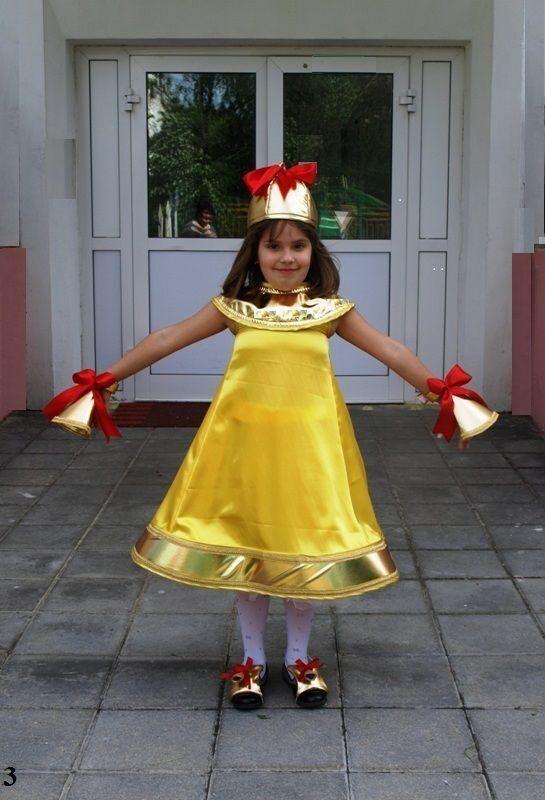Костюм колокола для девочки своими руками