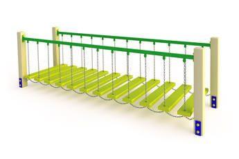 Подвесной мостик на детской площадке своими руками